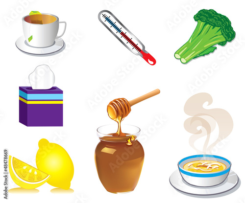 Sick Cold Flu Icons