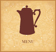 Vintage vector background with coffeepot