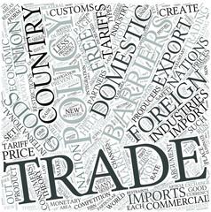 Trade policy Disciplines Concept