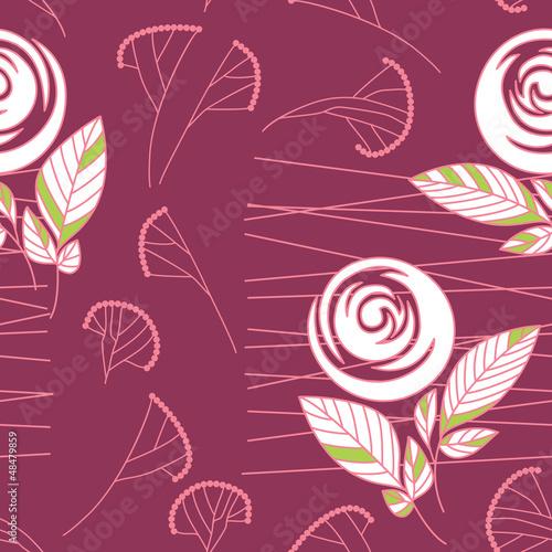 seamless vintage rose pattern background