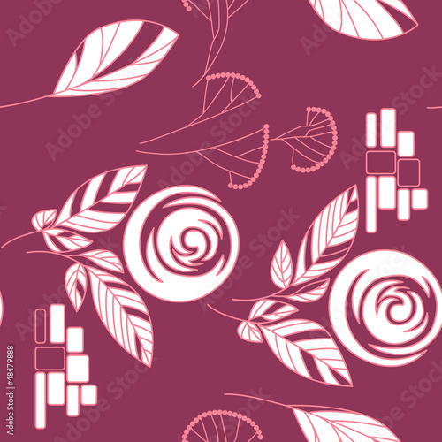 seamless vintage rose pattern background