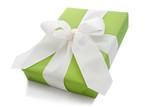 Isoliertes grünes Geschenk