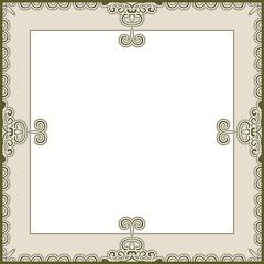 Vintage frame template in neutral color