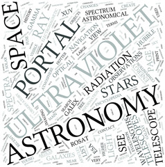 UV astronomy Disciplines Concept