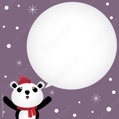 Christmas card with panda
