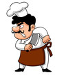 illustration of Cartoon Chef angry