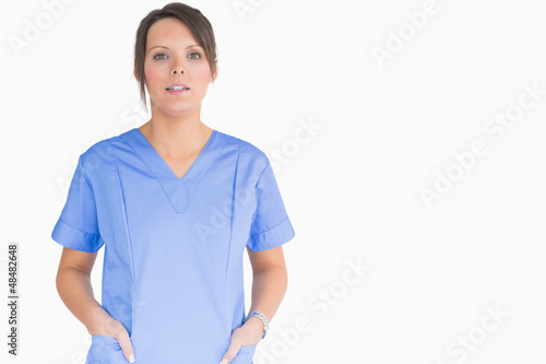 Nurse with hands in pockets