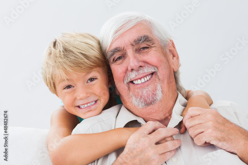 Grandfather and grandson