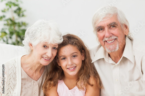 Grandparents with grandaughter