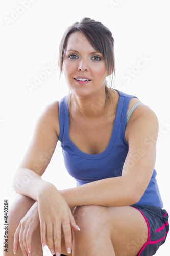 Portrait of young woman in sportswear