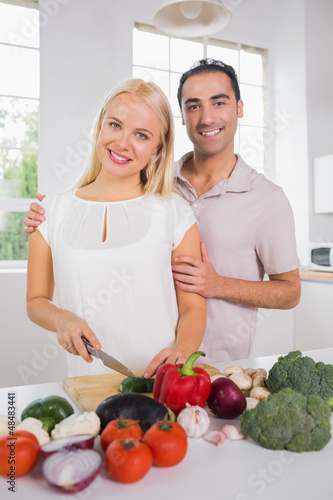 Couple preparing the dinner