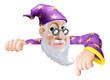 Fun Wizard Pointing Down