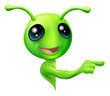 Green Alien Pointing