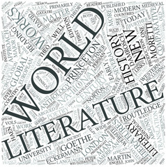 World literature Disciplines Concept