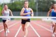 Athletes close to finish line