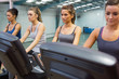 Four women at spinning class
