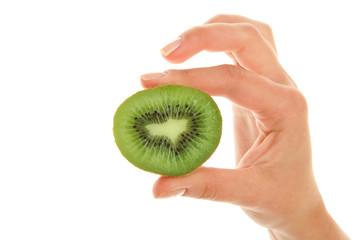 Woman's hand with kiwi