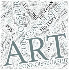 Connoisseurship Disciplines Concept