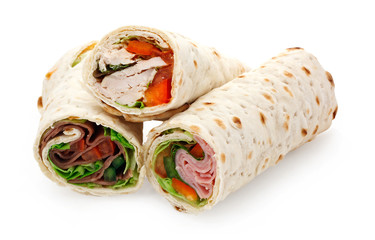 light lunch sliced wraps