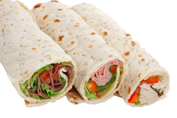buffet of sandwich wrap