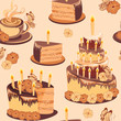 Happy birthday seamless wallpaper.