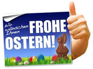 Wir wünschen Ihnen frohe Ostern! Button, Icon