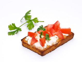 Bruschetta con pomodoro, antipasto