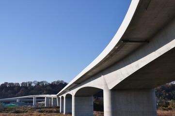 建設中の高速道路