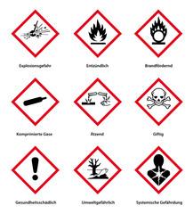 Gefahrenpiktogramme