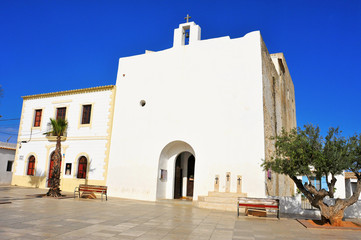 Sant Francesc Xavier Church in Sant Francesc de Formentera, Bale