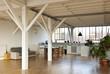 Interno loft, atelier studio.