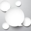 Fototapete Blase - Kreis - Papier / Karton