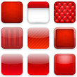 Red app icons.