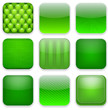 Green app icons.