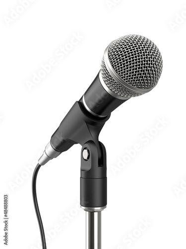 Leinwanddruck Bild Microphone