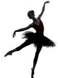 young woman ballerina ballet dancer dancing