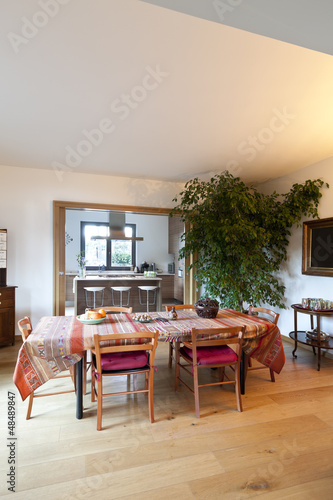 beautiful apartment, interior, dining room
