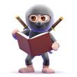 Ninja reads about technique