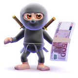 Ninja has a wad of euro notes to spend