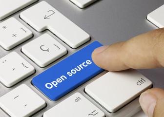 Open source keyboard key. Finger