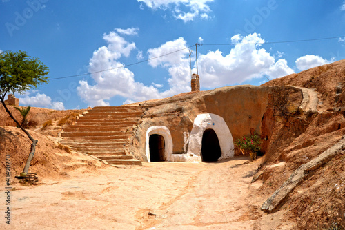Troglodyte house in the village of Matmata - Tunisia, Africa