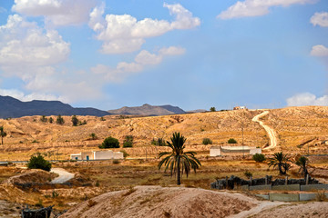 Panorama of the desert village of Matmata - Tunisia, Africa