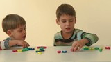Boys playing and learning, education concept