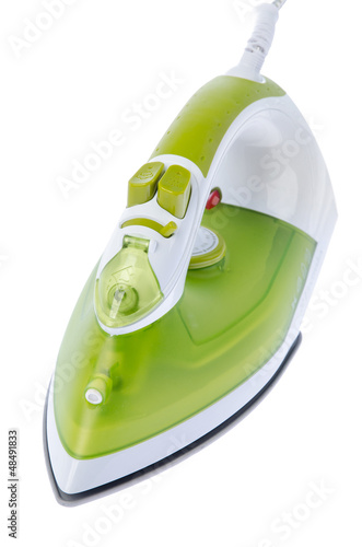 Ironing tool on white background