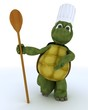 tortoise chef with wooden spoon
