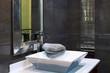 Modern bathroom interior - luxury design closeup