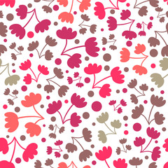 Seamless pattern with pretty flowers