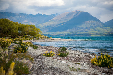 Beautiful view and landscape of South Island, New Zealand