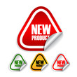 New product vector labels set