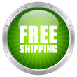 Vector green free shipping icon